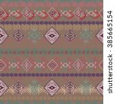 abstract ethnic seamless...   Shutterstock . vector #385665154