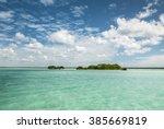 beautiful view of caribbean...   Shutterstock . vector #385669819