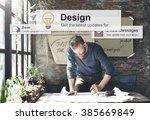 design drawing outline planning ... | Shutterstock . vector #385669849