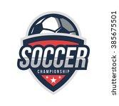 soccer logos  american logo... | Shutterstock .eps vector #385675501