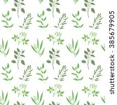 seamless plant background.... | Shutterstock .eps vector #385679905