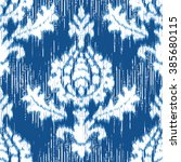 medieval ikat damask fabric... | Shutterstock .eps vector #385680115