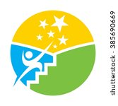 reach star logo vector. success ... | Shutterstock .eps vector #385690669