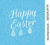 easter blue background with... | Shutterstock .eps vector #385692979
