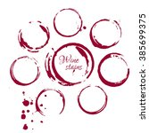 set of wine stains isolated on... | Shutterstock . vector #385699375