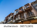 old town house  building with... | Shutterstock . vector #385712851