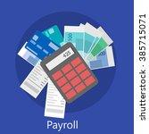 payroll icon | Shutterstock .eps vector #385715071