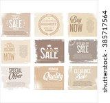 sale retro grunge banner... | Shutterstock .eps vector #385717564