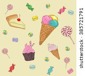 vector big sweet collection... | Shutterstock .eps vector #385721791