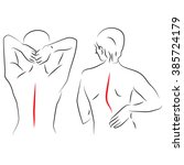 correct posture and curved | Shutterstock .eps vector #385724179