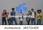 computer network technology... | Shutterstock . vector #385731409