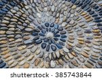 stone road background in the... | Shutterstock . vector #385743844