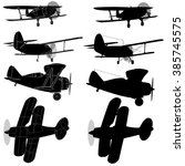 Bi Plane Collection Isolated O...