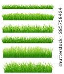 green grass borders set on...   Shutterstock . vector #385758424