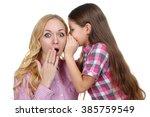 sweet and beautiful little girl ... | Shutterstock . vector #385759549