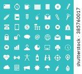 set of various office ... | Shutterstock .eps vector #385760017