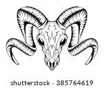 ram skull | Shutterstock .eps vector #385764619