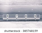 athletics long jump sand pit... | Shutterstock . vector #385768159