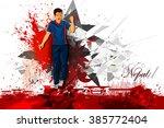 easy to edit vector... | Shutterstock .eps vector #385772404