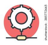 network gear colored vector... | Shutterstock .eps vector #385772665