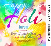 happy holi  a spring festival... | Shutterstock .eps vector #385772731