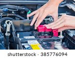 check the condition of the car... | Shutterstock . vector #385776094