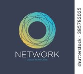 technology logo. network logo.... | Shutterstock .eps vector #385782025