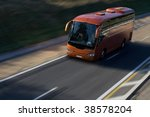 speed red bus on highway   Shutterstock . vector #38578204