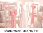 decorated wedding chairs | Shutterstock . vector #385789441