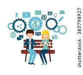 social media design  | Shutterstock .eps vector #385798927