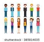 isometric people design  | Shutterstock .eps vector #385814035