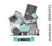 waste concept design  | Shutterstock .eps vector #385816921