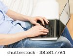 technology  people and... | Shutterstock . vector #385817761