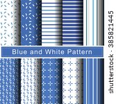 blue and white pattern vector | Shutterstock .eps vector #385821445