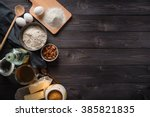 ingredients for baking on a... | Shutterstock . vector #385821835