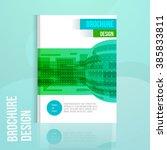 vector brochure design template ... | Shutterstock .eps vector #385833811