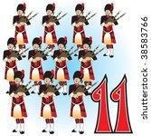the 12 days of christmas vector ... | Shutterstock .eps vector #38583766