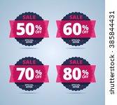 big sale special offer banner ... | Shutterstock .eps vector #385844431