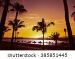 fuerteventura caleta del fuste... | Shutterstock . vector #385851445