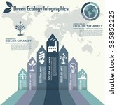 eco infography labels design... | Shutterstock .eps vector #385852225