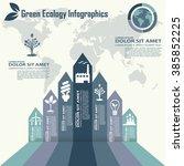 eco infography labels design... | Shutterstock .eps vector #385852225