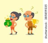 cartoon sport senior man... | Shutterstock .eps vector #385859335
