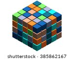 3d cubes abstract background ... | Shutterstock . vector #385862167