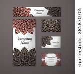 templates set. business cards ... | Shutterstock .eps vector #385870705