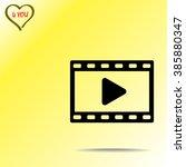 video sign icon  vector... | Shutterstock .eps vector #385880347