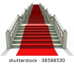 luxury stairs covered with red... | Shutterstock . vector #38588530