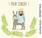 Palm Sunday Banner As Religiou...