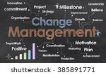 change management and business... | Shutterstock . vector #385891771