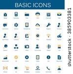 basic web icons. modern vector... | Shutterstock .eps vector #385903381