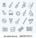 music instruments. vector icons | Shutterstock .eps vector #385907917